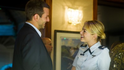 "Bradley Cooper, left, and Emma Stone star in Columbia Pictures' ""Aloha."""